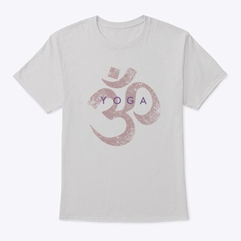 Om Symbol Yoga Design Light Steel T-Shirt Front