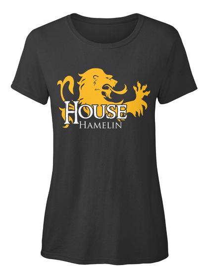Hamelin Family House   Lion Black T-Shirt Front