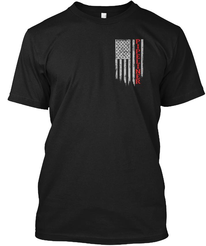 American-Pipeliner-Flag-Hanes-Tagless-Tee-T-Shirt thumbnail 14