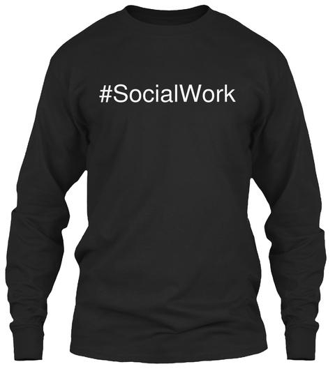 #Socialwork Black T-Shirt Front