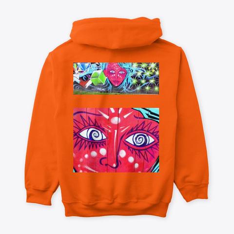 Jimmyinspaz Zz Graffiti Art Safety Orange Sweatshirt Back