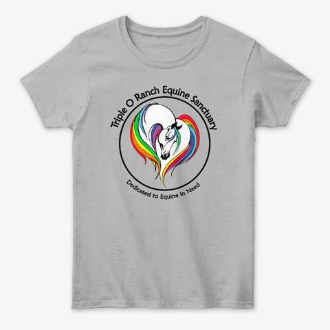 Triple O Rainbow  Horse Sport Grey T-Shirt Front