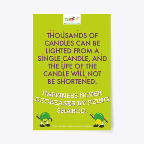 Glow – Mettas Quote Poster Standard T-Shirt Front