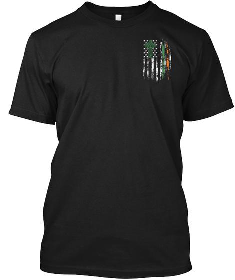 Irish American Flag Tshirt! Black T-Shirt Front