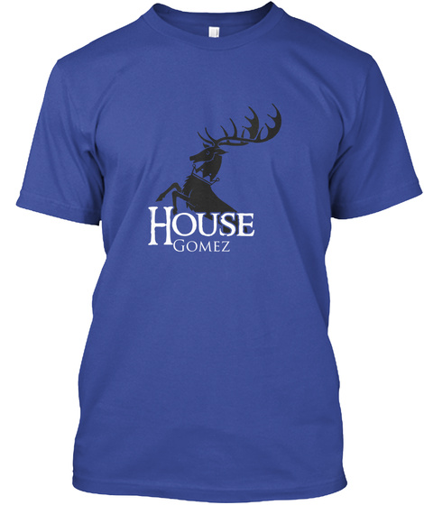 Gomez Family House   Stag Deep Royal T-Shirt Front