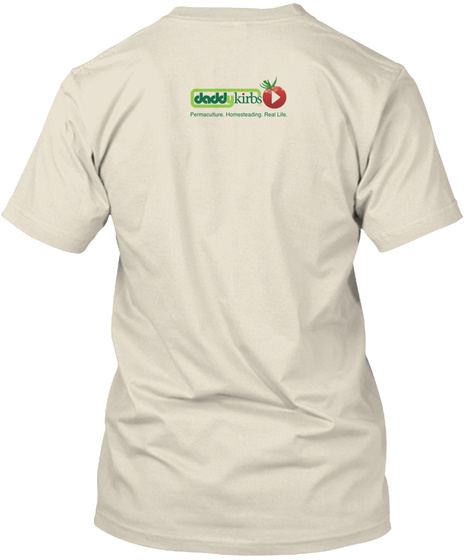 """""""I'm In The Fa Nily"""" Apparel Cream T-Shirt Back"""