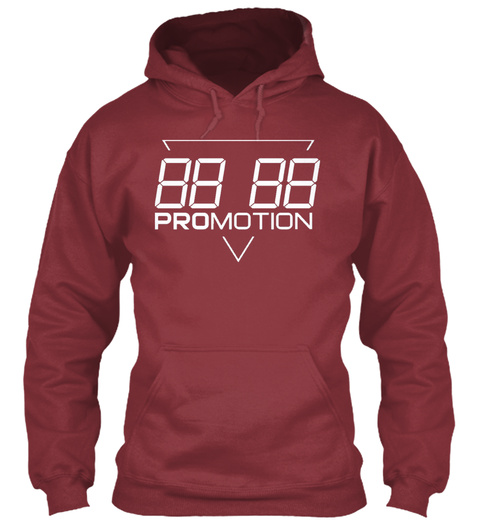 88 88 Promotion Maroon T-Shirt Front