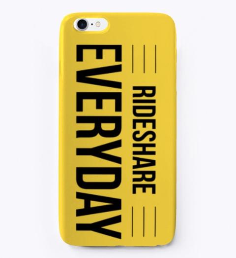 Rideshare Everyday Phone Case Yellow T-Shirt Front
