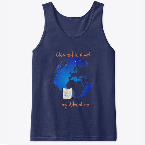 Cleared For My Adventure   Travel Navy T-Shirt Front