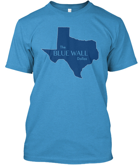 The Blue Wall Dallas Heathered Bright Turquoise  Kaos Front