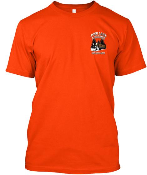 Josh Lane Logging 888 888 4052 Orange T-Shirt Front