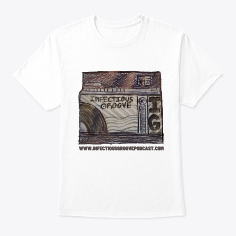Igp   Jukebox Sketch White T-Shirt Front