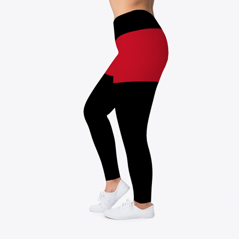 Angola Flag Leggings Standard T-Shirt Left