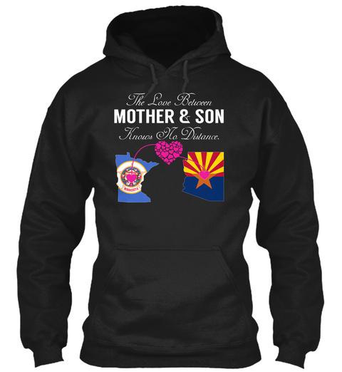 Mother Son   Minnesota Arizona Black Sweatshirt Front