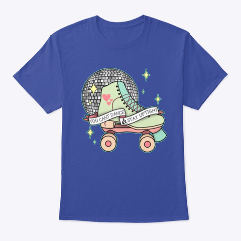 Roller Disco Deep Royal T-Shirt Front