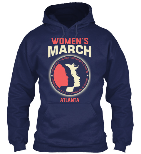Women's March Atlanta Navy T-Shirt Front