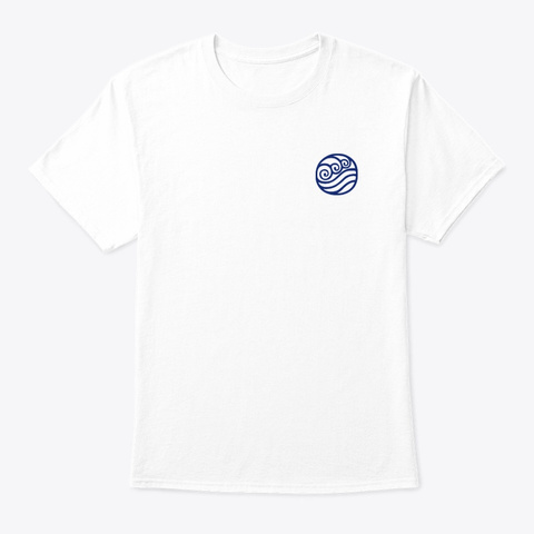 Water Tribe 🌊 White T-Shirt Front