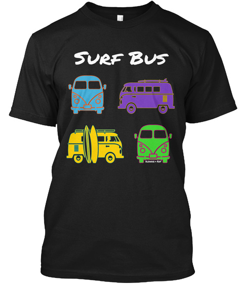 Surf Bus Alexander & Kent Black T-Shirt Front