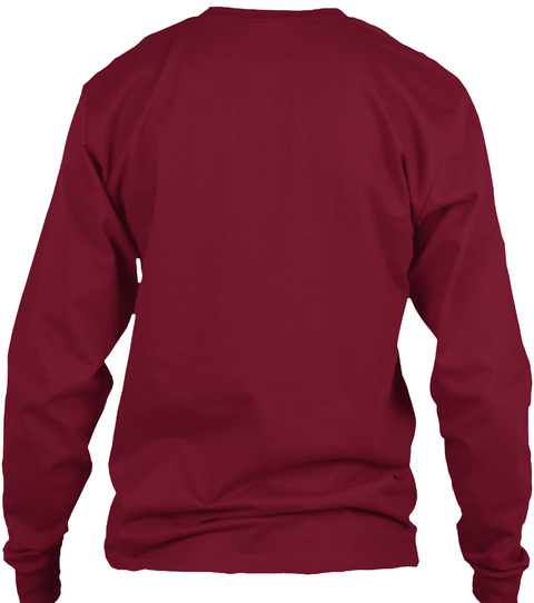 Gridless Life Long Sleeve Tee Cardinal Red Long Sleeve T-Shirt Back