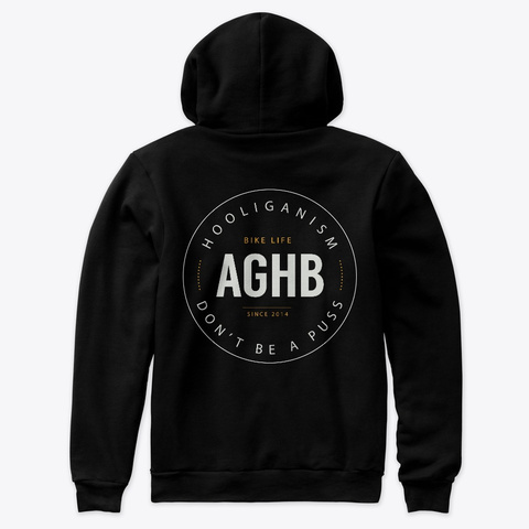 Aghb Youtube Merch Black T-Shirt Back