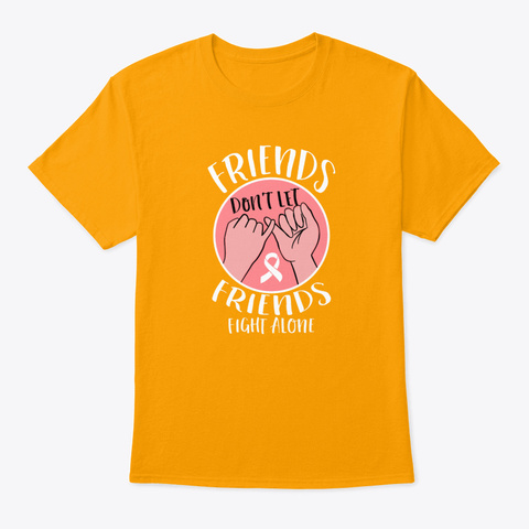 Breast Cancer Awareness Art For Warrior Gold T-Shirt Front
