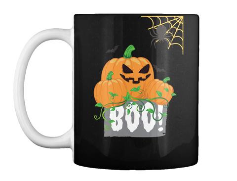 Pumpkin Halloween Mug Black T-Shirt Front
