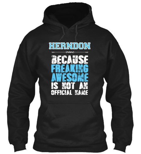 Herndon Is Awesome T Shirt Black T-Shirt Front