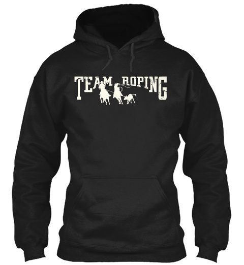 Team Roping Black Sweatshirt Front