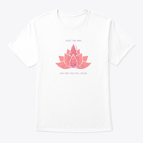 Yoga Spirit Quiet Mind Collection White T-Shirt Front