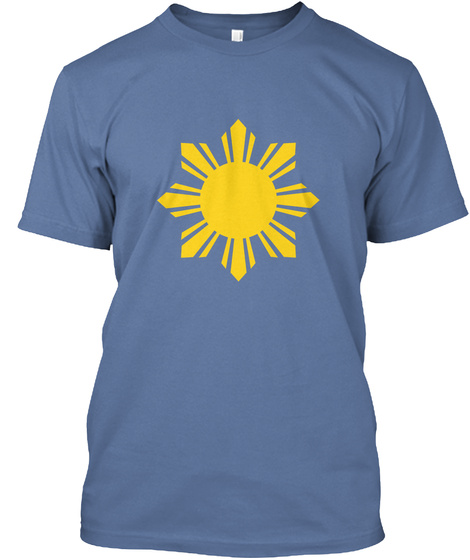 c5025849be Philippines Flag Sun Filipino Pride Ph Denim Blue T-Shirt Front