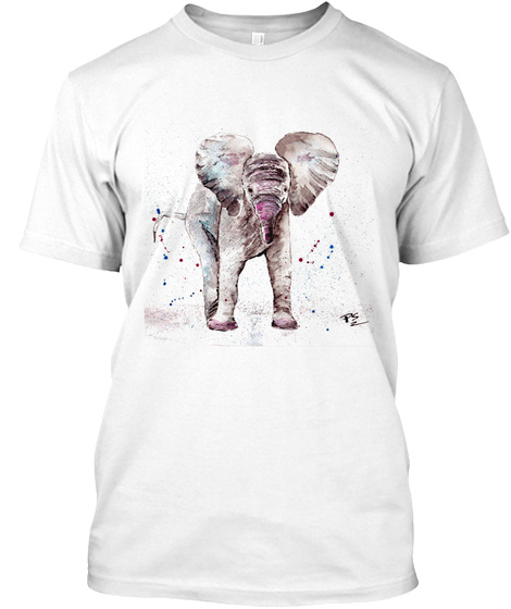 Baby Elephant Watercolor.Limited Edition T-Shirt Front