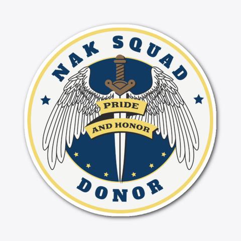 Nak Donor Logo Stickers Standard T-Shirt Front