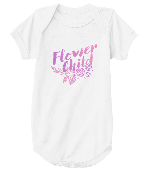Flower Child White T-Shirt Front