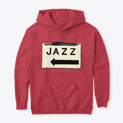 Wearable Jazz Cardinal Red T-Shirt Front