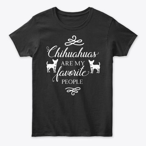 Funny Dog T Shirt   Chihuahua Black T-Shirt Front