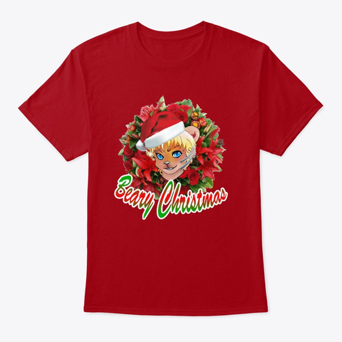 Beary Christmas Deep Red T-Shirt Front