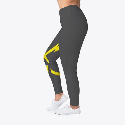 Womans Cx Gold Yoga Pants  Charcoal T-Shirt Left
