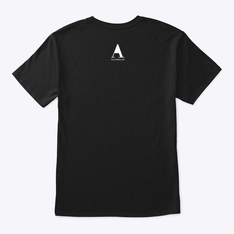 America With No A Holes™ On Dark Merch Black T-Shirt Back