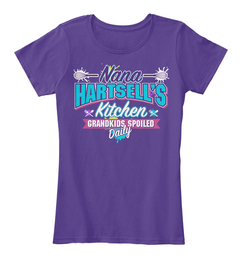 Nana Hartsell's Kitchen Purple T-Shirt Front