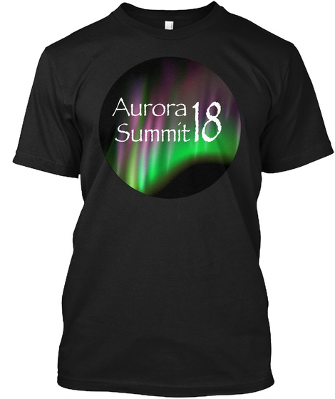 Aurora Summit 18 Black T-Shirt Front