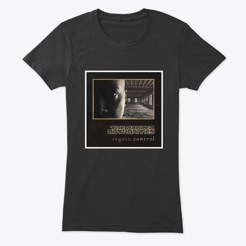 Regain Control: Album Cover Vintage Black T-Shirt Front