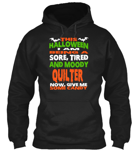 Quilter Black T-Shirt Front