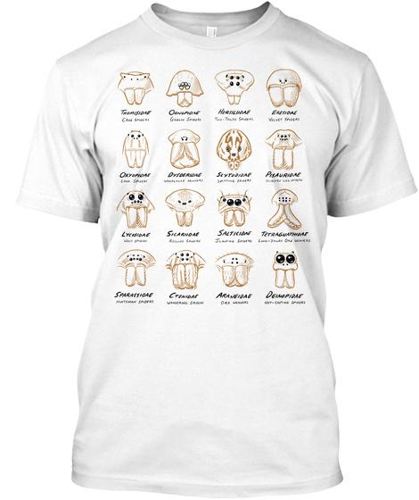 Spider Eye Arrangements T Shirt (Europe) White T-Shirt Front