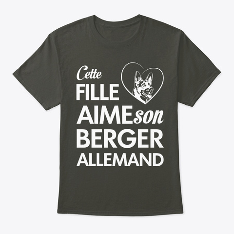 Cette Fille Aime Son Berger Allemand! Smoke Gray T-Shirt Front