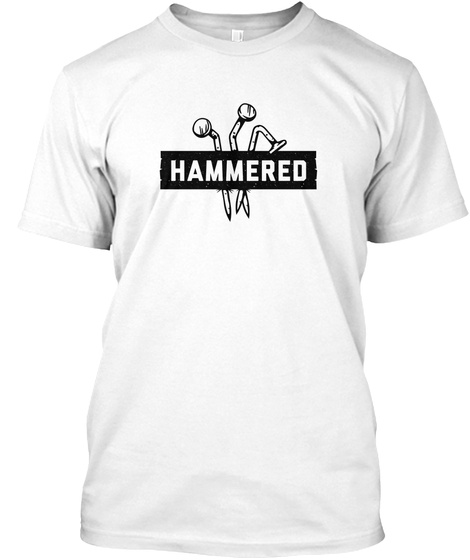 Hammered White T-Shirt Front
