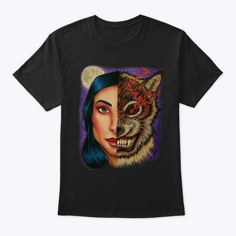 The She Wolf Black T-Shirt Front
