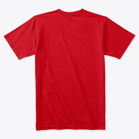 3 D 64 Tetrahedron Grid Series   Red Red T-Shirt Back