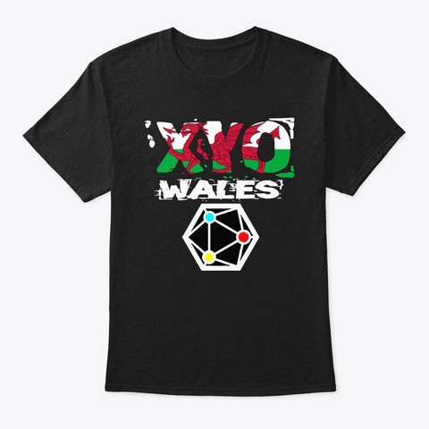 Xyo Wales Design Black T-Shirt Front