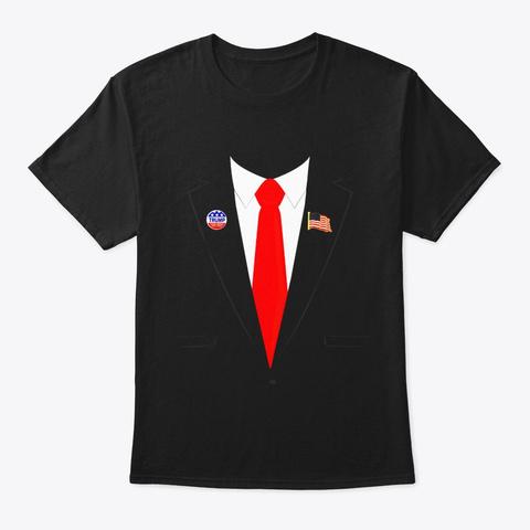 Tuxedo Suit Presidents Day Shirt Trump Black T-Shirt Front