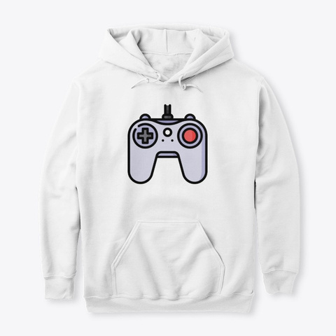 Classic Game Controller White T-Shirt Front
